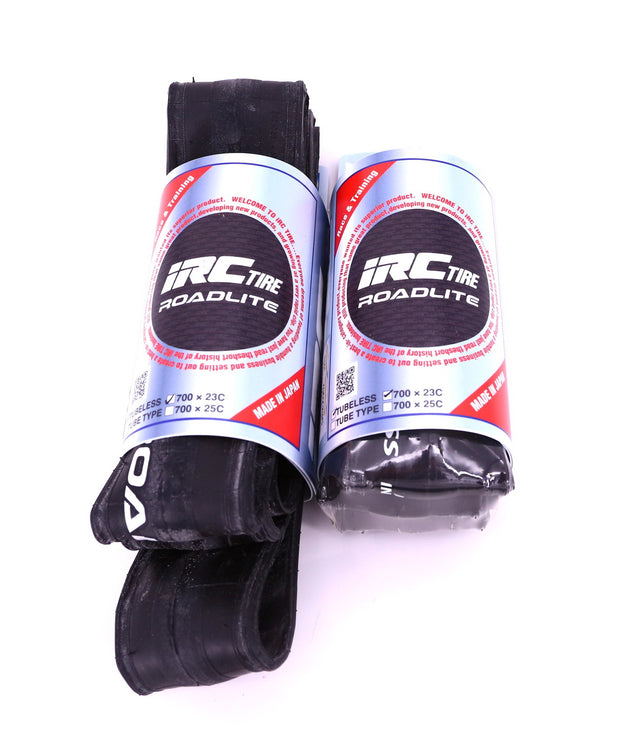 IRC Roadlite Tubeless Folding Clincher Road Tire 700 x 23C 120 TPI (Pair) New