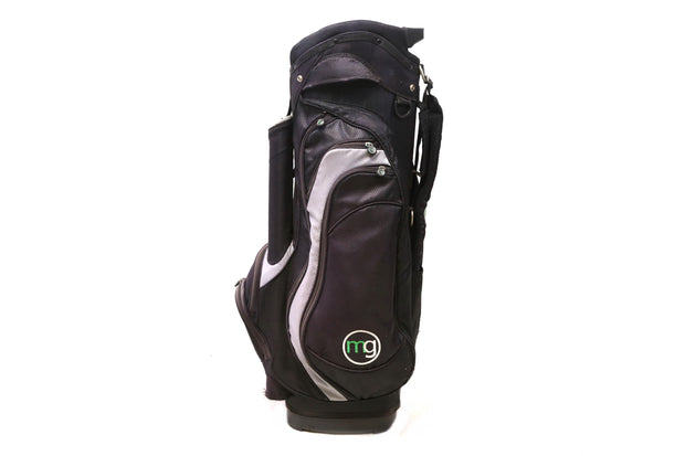 MG Cart Golf Bag 14-Way Divider Men's Black 8 Pockets Cooler Pouch Single Strap