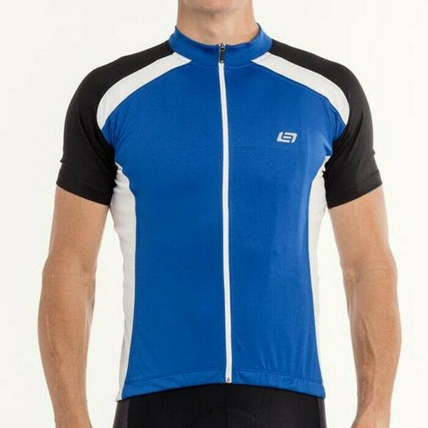 Bellwether Pro Mesh S/S Cycling Jersey Blue/Black/White S NEW Retail $55