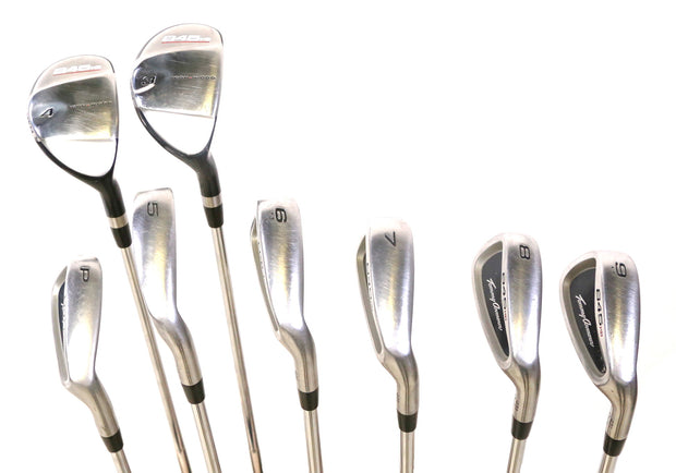 Tommy Armour 845 HB PW (43.5), 3-4 Hybrids, 5-9 Irons Right Handed Steel Regular