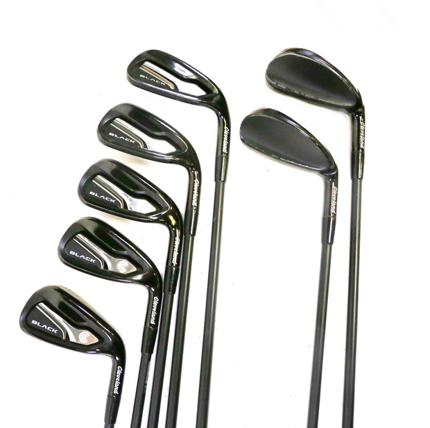 Cleveland Black 4-9, PW, 3 Wood, Driver Iron Set RH Bassara Graphite Light Flex