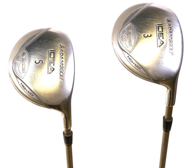 Adams Idea a30s 3, 5 Woods Right Handed Grafalloy Graphite Shaft Women's Flex