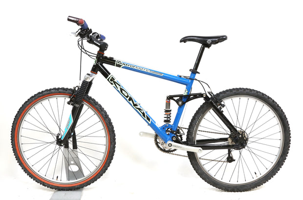 "Kona Manomano Full Suspension Mountain Bike M / 18"" 3 x 9 Speed 26"" Wheels"