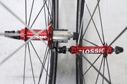 American Classic Carbon 85 Tubular Road Wheelset 10 Speed Shimano 700C EXCELLENT