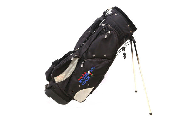 Bagboy Stand Golf Bag 4-Way Divider Men Black 9 Pockets Dual Strap Cooler Pouch