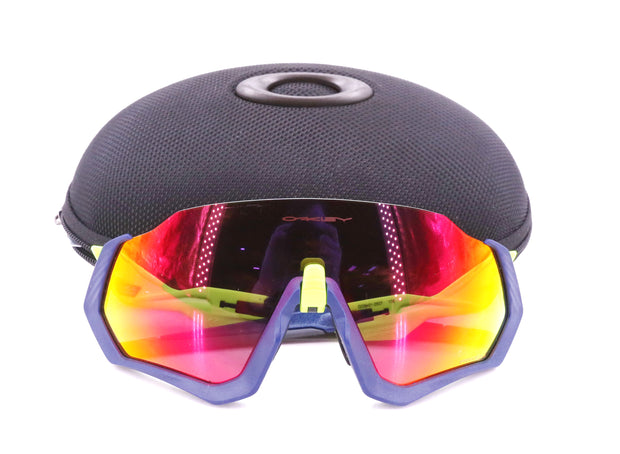 Oakley Flight Jacket Prizm Lens Technology Pink/Blue/Yellow Protective Case