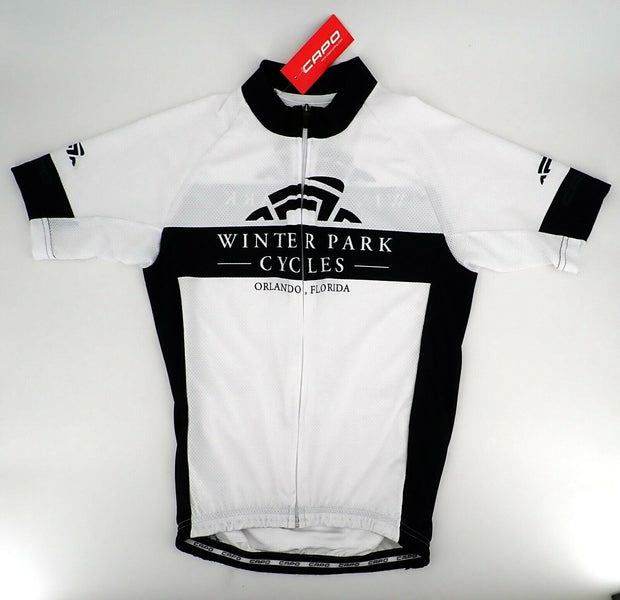 CAPO Corsa Winter Park Cycles S/S Cycling Jersey XL White/Black NEW Was $119