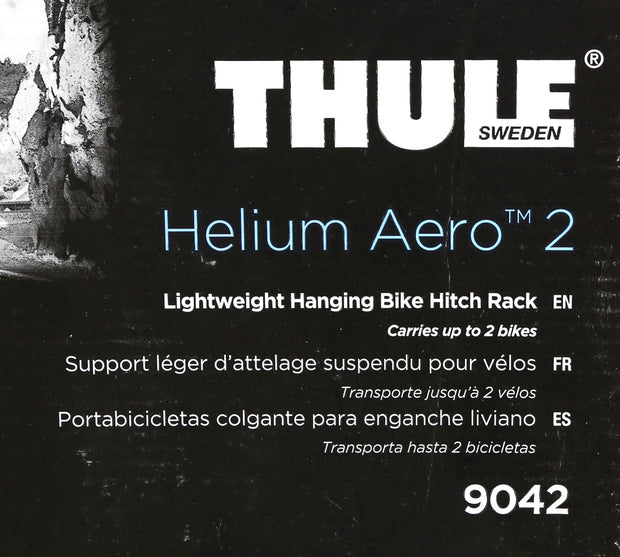 "Thule Helium Aero 2 Hitch Mount Car Bike Carrier 2 Bike 1.25"" / 2"" Hitch NIB"