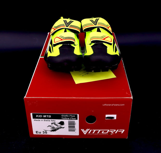 Vittoria Kid MTB Kid's Mountain Bike Shoes Yellow Fluo EU 35/ 4.5 U.S.
