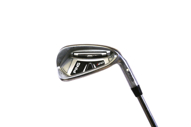 Ping i20 White Dot 4-9, PW Iron Set Right Handed Ping CFS Steel Shaft Stiff Flex