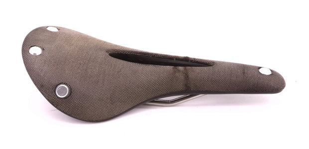Brooks C15 Cambium Carved Bike Saddle Steel Rails 280 x 140 mm 400 g Gray