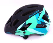 Specialized Ambush MTB Cycling Helmet Black Small CPSC Blue Acid Mint Fractal
