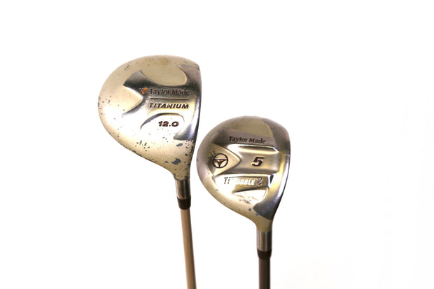TaylorMade Ti Bubble 1, 5 Wood Set Right Handed Graphite Ladies Flex Shafts