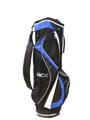 TiTech TourLite RCX Cart Golf Bag 9 Way Men Black, Blue Single Strap Rain Hood