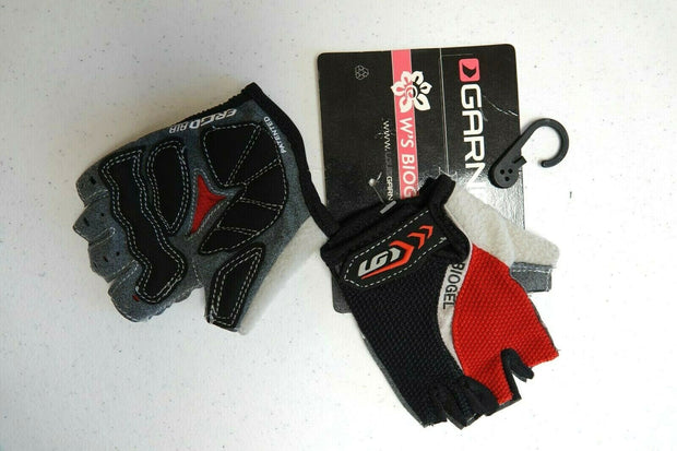 Garneau Women's Biogel Rx Cycling Gloves S Black/Red NEW MSRP $20