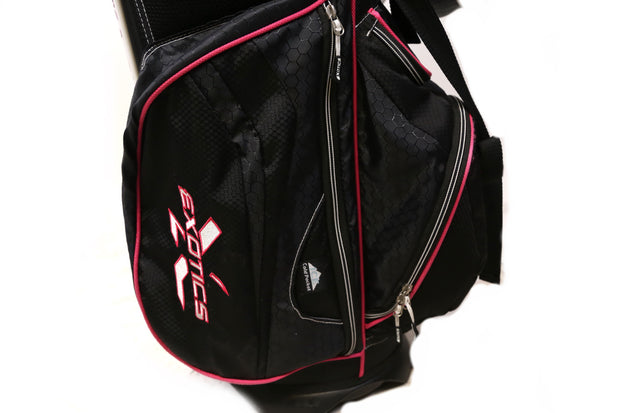 Tour Edge Exotics Xtreme 2 Stand Golf Bag 7 Way Women Black, Pink