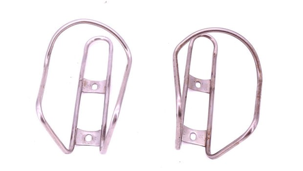 King Cage Stainless Steel Bottle Cage Set Touring Bike Silver Pair