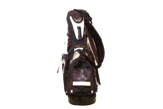 Ping Freestyle Stand Golf Bag 4-Way Divider Men's Black, Gray Dual Straps