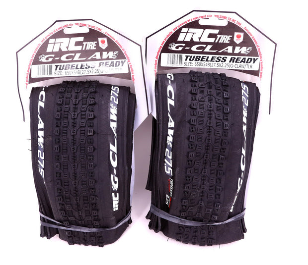 IRC G-Claw Tubeless Ready 27.5 x 2.25 Mountain Bike Tire Set NEW IN PACKAGE