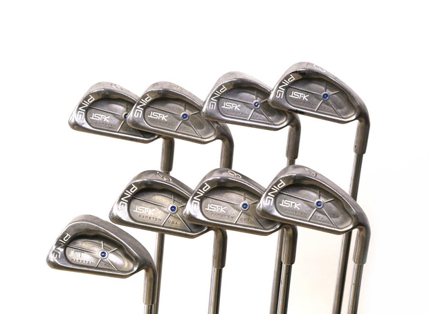 Ping ISI K Blue Dot 3-9, SW Iron Set Right Handed Steel JZ Stiff Flex Shafts