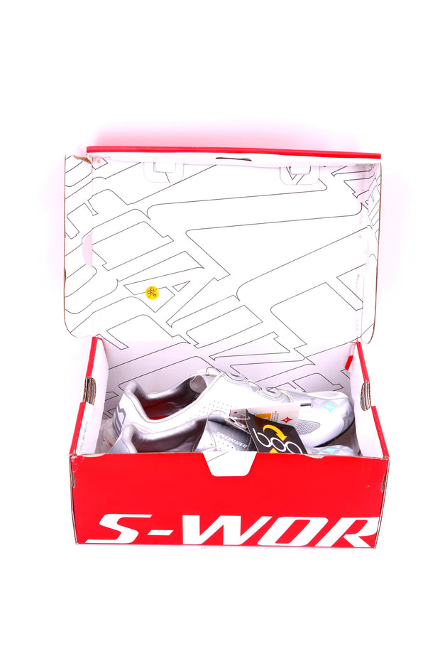 Specialized S-Works Rd White and Silver BOA Road Cycling Shoes 39.5 EU 8.5 US