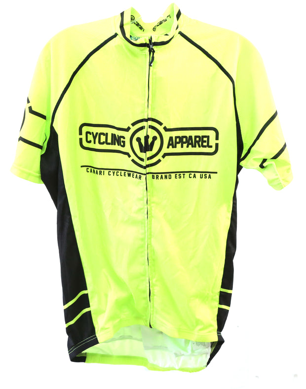 Canari Gatsby Short Sleeved Cycle Jersey Large Killer Yellow New With Tags