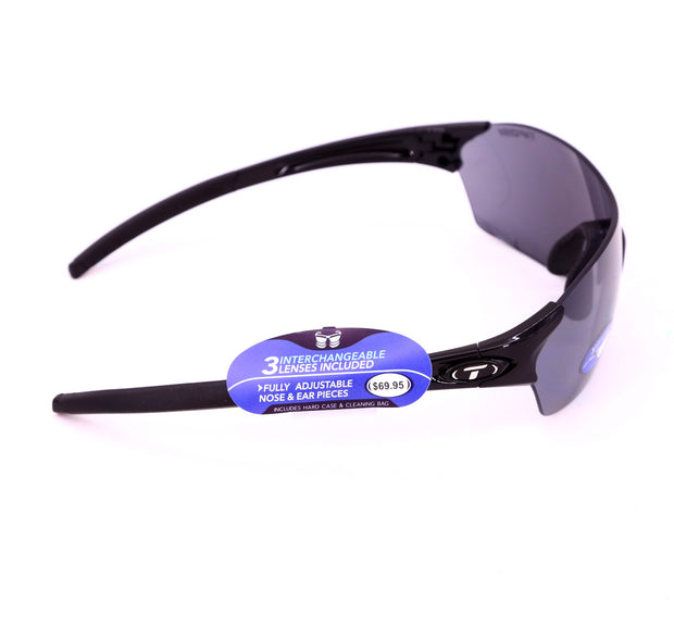 Tifosi Brixen Road / MTB Cycling Glasses Interchangeable Lenses Crystal Smoke