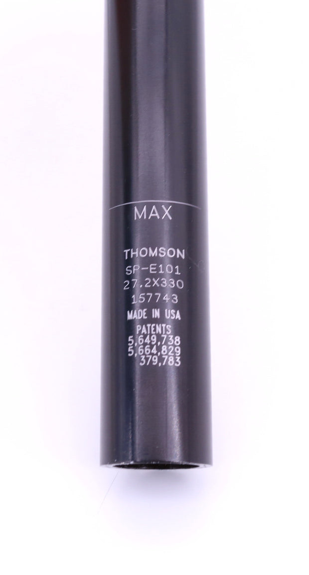 Thomson Elite SP-E101 Seatpost 27.2 x 330mm Aluminum Black No Setback