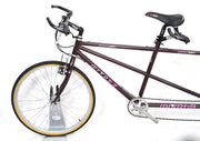 "Miyata Duplicross 46 / 42 cm 26"" Steel Tandem Bike 3 x 7 Speed Shimano"