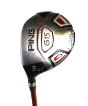 Ping G15 3 Wood 43in LH 15.5 Degree Graphite Shaft Regular Flex