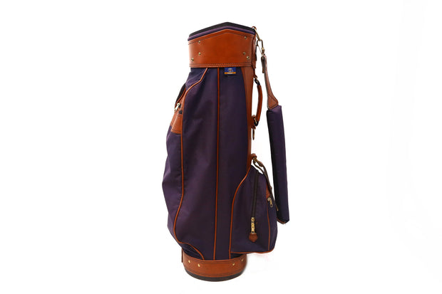 Hot Z Airliner Cart Golf Bag 6-Way Divider Men's Blue 4 Pockets Vintage 4 Pocket