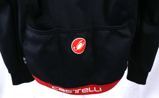 Castelli Rosso Corsa Gore Wind Stopper PTFE Cycling Jacket Large