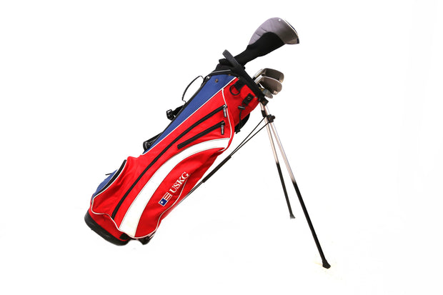 U.S. Kids Golf Bag, USKG WT-10 3 Wood,6,8,PW,SW USKG 520 Putter X Tour Driver
