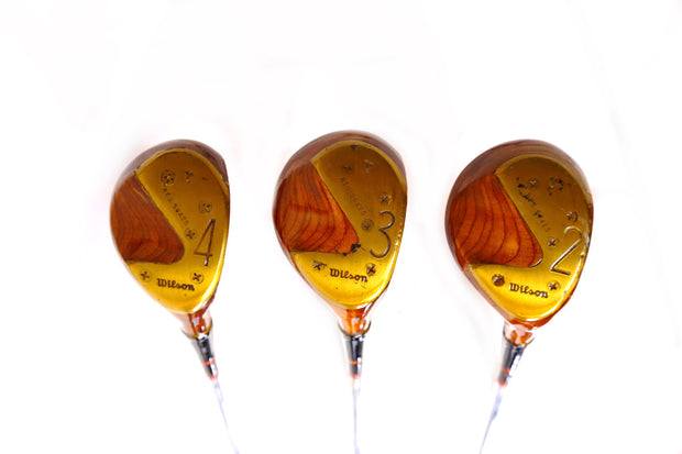 Wilson 2, 3, 4 Wood Set Right Handed Steel Shaft Vintage Antique Wood Club Heads