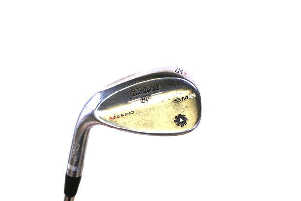 Titleist SM6 Tour Chrome M Grind Sand Wedge 35.5 in LH 56 Degree Steel Shaft