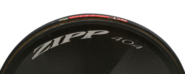 Zipp 404 Carbon Disc Rear Wheel TT / Tri Bike MDF 10 Speed 700c QR Tubular