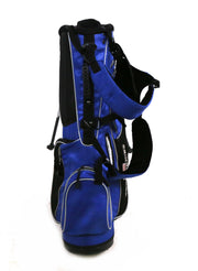 US Kids Golf Tour Series Stand Golf Bag 7 Way Divider Blue Rain Hood Included