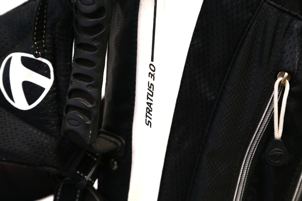 TaylorMade Stratus 3.0 Stand Golf Bag 7-Way Dividers Men's Black Dual Strap
