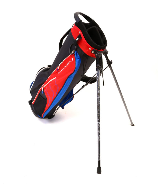 Maxfli Junior / Kids Stand and Carry Golf Bag 3 Divider Red and Blue NEW