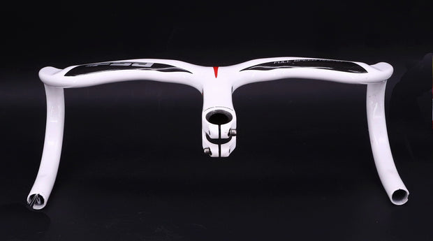 FSA Plasma Integrated Carbon / Aluminum Drop Handlebar 440 mm White