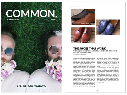 Thomas Bird Shoes – Press Review – Common Magazine