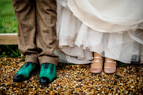 Wedding shoes - green patina
