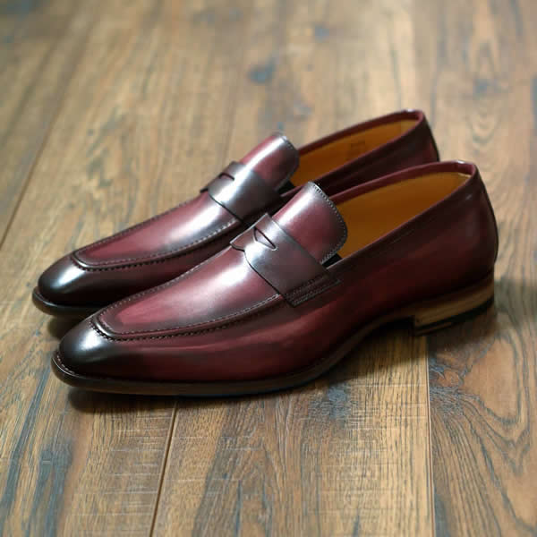 Oxblood penny loafer