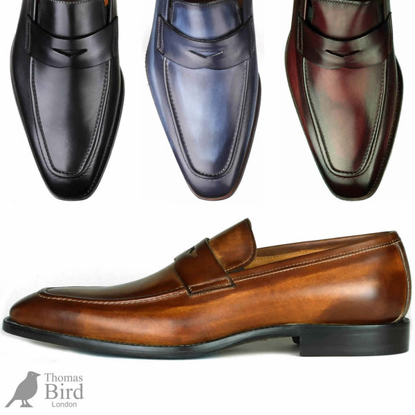 Thomas bird range of penny loafers - various colours