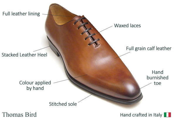 Wholecut shoes features