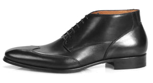 Newton Wingcap Chukka Boot - Black-Chukka boot-Side View