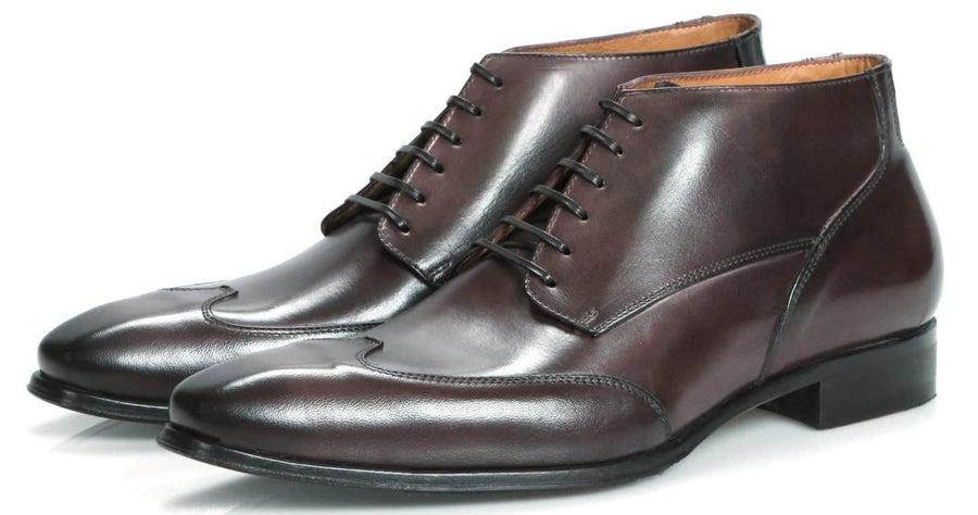 Newton Wingcap Chukka Boot - Brown-Chukka boot-Side View