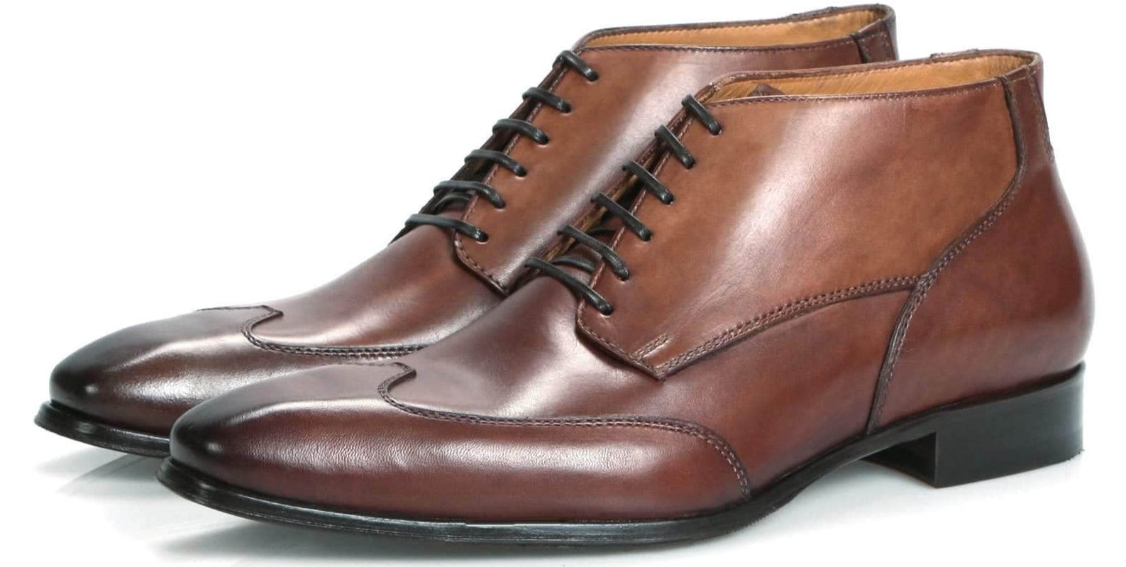 Mens Boots - Newton Wingcap Chukka Boot - Tan
