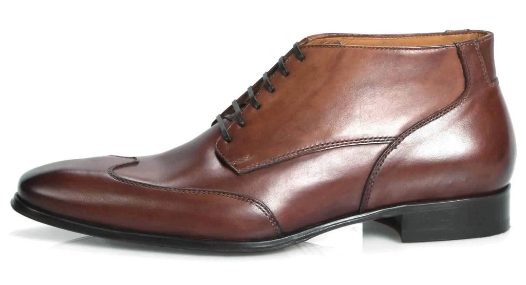 Newton Wingcap Chukka Boot - Tan-Chukka boot-Side View