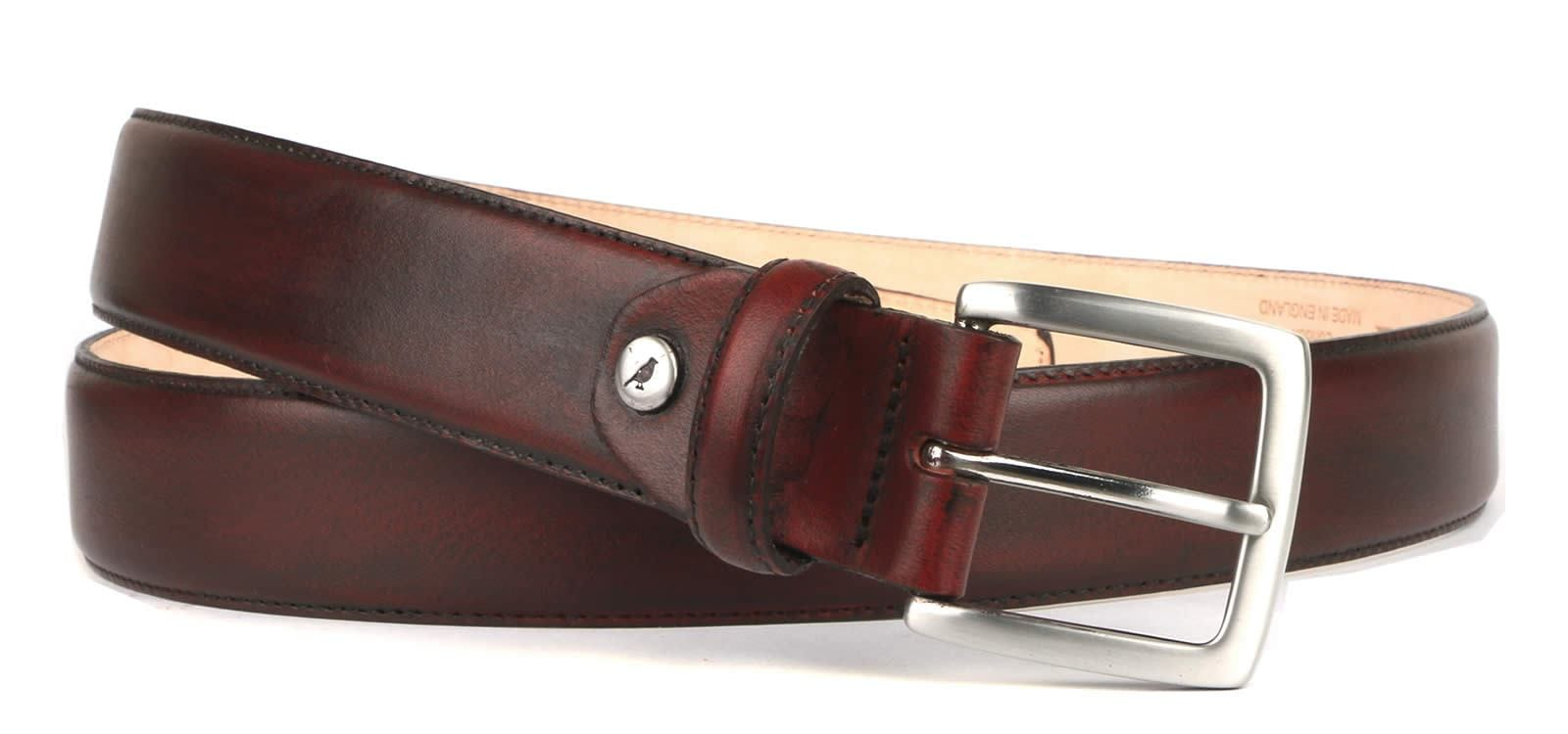 Leather Belt Conker Brown